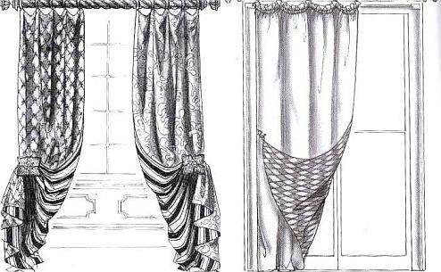 Дизайн штор для спальни: основные разновидности материала