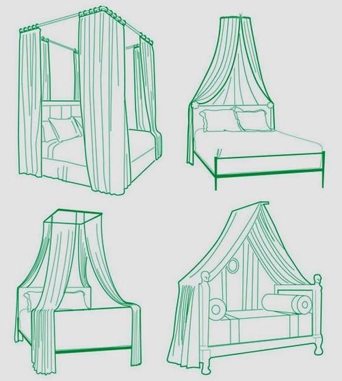 Дизайн спальни с балдахином над кроватью (фото и видео)