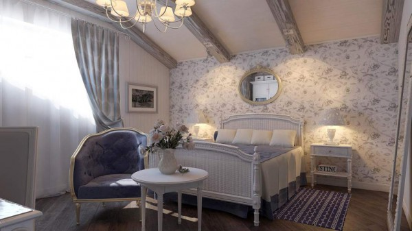 Дизайн спальни в стиле прованс: особенности оформления, освещение и мебель (фото и видео)