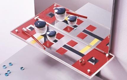 Геометрия и цвет – делаем оригинальную полочку для ванной