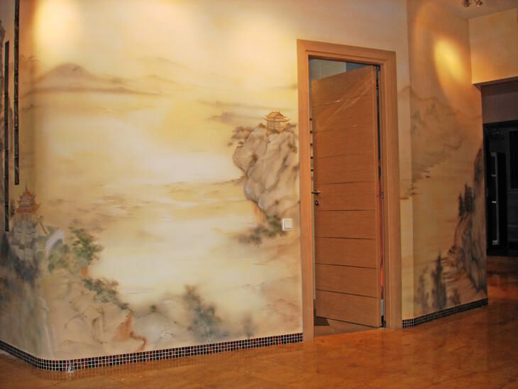 Индивидуальные интерьеры благодаря живописи по сухой штукатурке