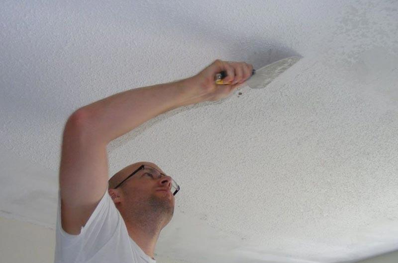 Как быстро смыть побелку с потолка