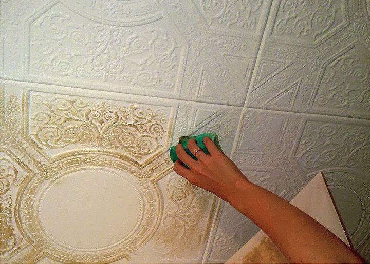 Как и чем покрасить потолочную плитку из пенопласта