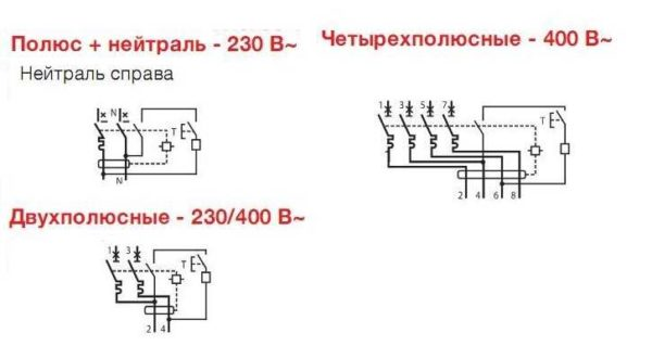 Как подключить дифференциальный автомат