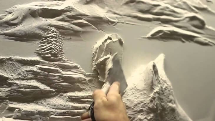 Картины из шпаклевки своими руками — создаем собственный интерьер