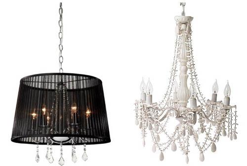 Лампы и люстры в гостиную