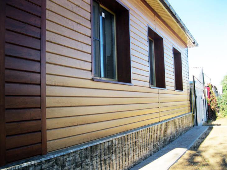 Металлосайдинг под брус для любых видов фасадов