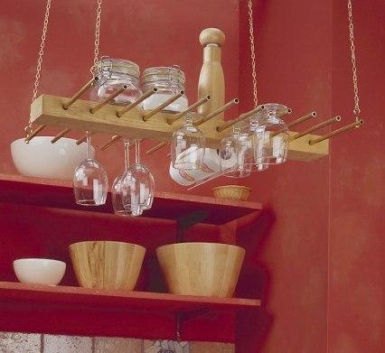 Навесная кухонная полка из латуни