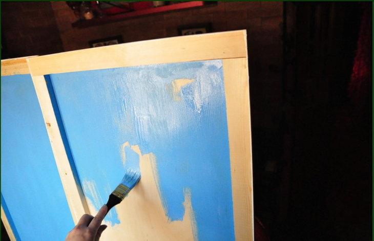 Покраска фанеры