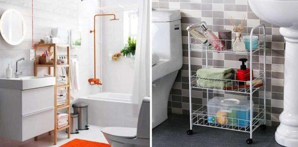 Полка в ванную комнату: виды, материалы, выбор