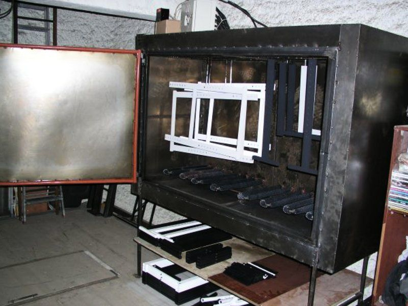 Порошковая покраска в домашних условиях: выбор и изготовление оборудования