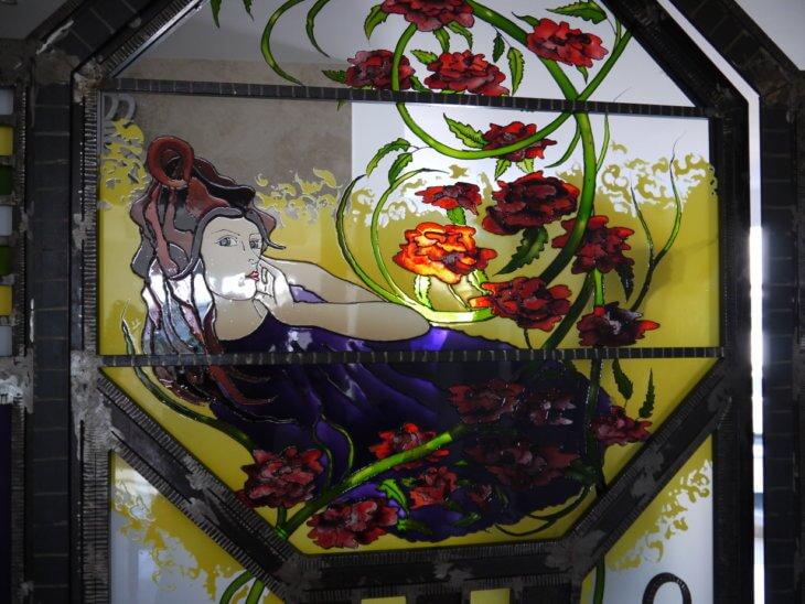 Роспись по стеклу акриловыми красками своими руками
