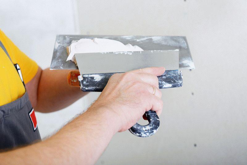Шпаклевка гипсокартона: готовим под покраску