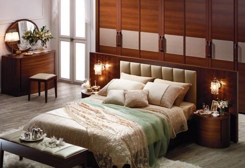 Спальня в стиле фьюжн: цветорове решение, освещение, декор, мебель