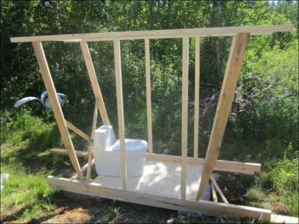Строим дачный туалет: проекты, чертежи, размеры
