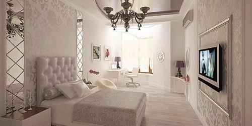 Текстиль в интерьере спальни: виды и применение материала (фото)