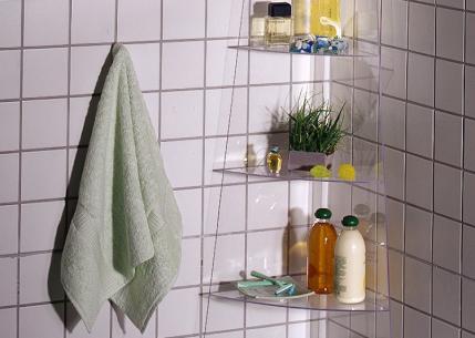 Угловая полочка для ванной комнаты