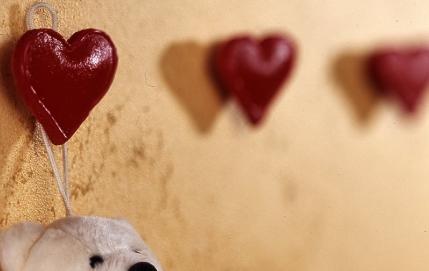 Вешалки в виде сердец
