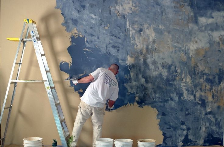 Виды и особенности фактурной краски для стен