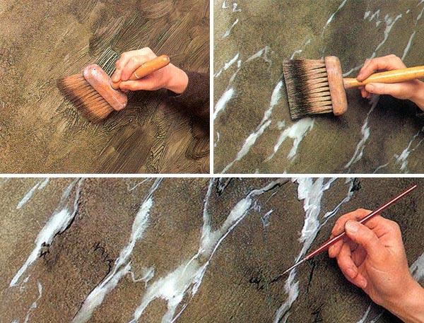 Выполнение декоративной покраски стен своими руками