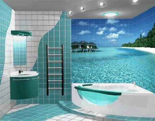 Кафельная плитка для обустройства ванной комнаты