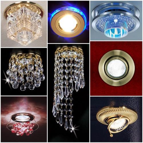 Основные виды потолочных светильников
